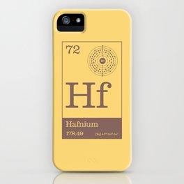Periodic Elements - 72 Hafnium (Hf) iPhone Case