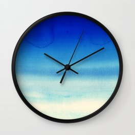 Sky Watercolor Texture Abstract 710 Wall Clock