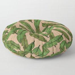 Banana Leaf - Coffee Floor Pillow