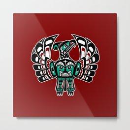 Northwest Pacific coast Haida art Thunderbird Metal Print