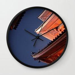 Kiyomizudera Roofs Wall Clock
