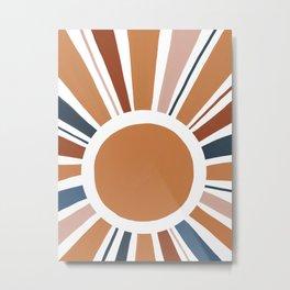 Colorful Sun Rays Metal Print
