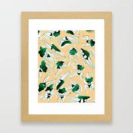 Swimming Girl Framed Art Print