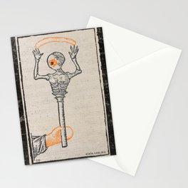misterio visual 9: ojo calaca sonaja Stationery Cards