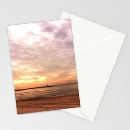 Sunset on the Harbor Stationery Cards