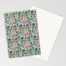 collection of succulents and their flowers Stationery Cards