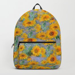 Sunflowers, floral, retro, vintage,. painting, harmony, summer, heath Backpack
