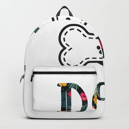 Dog groomer cute pet dog grooming floral T-Shirt Backpack