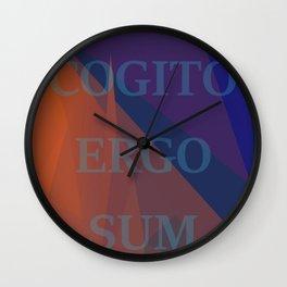 Cogito Ergo Sum René Descartes Quote Wall Clock