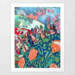 Floral Migrant Quilt Art Print