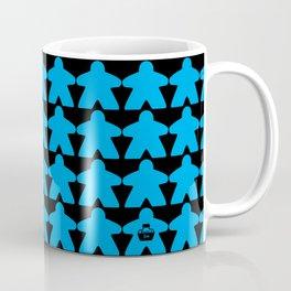 Blue Meeples by Blackburn Ink Coffee Mug