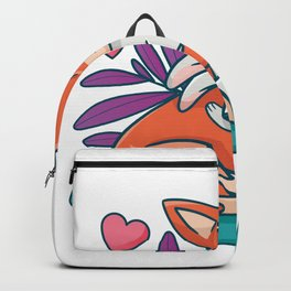 Fox and hare love each other Backpack