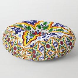 talavera mexican tile Floor Pillow
