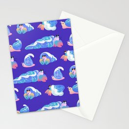 Ocean wave shells Stationery Cards