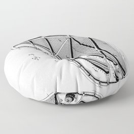 Steinway Piano Patent - Piano Player Art - Black And White Floor Pillow