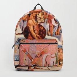 "Classical Masterpiece ""Egyptian Ramesses II Throne Room"" by Herbert Herget Backpack"