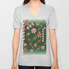 Christmas Candy Cheer Unisex V-Neck