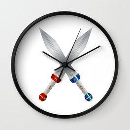 Two Roman Swords Wall Clock