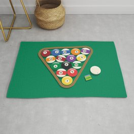 Billiard Balls Rack - Boules de billard Rug