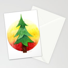 The Pine Guard Watercolor Logo Stationery Cards