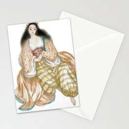 Odalisque watercolor harem ladies illustration Stationery Cards