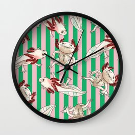 Swimming Axolotl Wall Clock