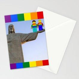 Rio Mini Figures LGBT PRIDE Brazil Jesus Stationery Cards