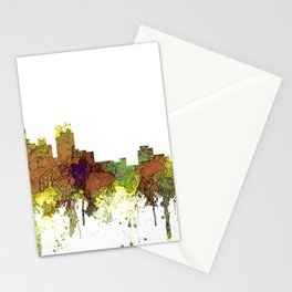 Detroit, Michigan Skyline SG - Spring Buff Stationery Cards