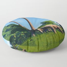 Jurassic Dinosaurs Evolution Floor Pillow