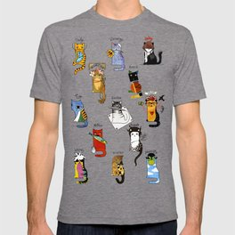 Legendary Art cats - Great artists, great painters. T-shirt