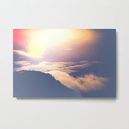 over mountains Metal Print