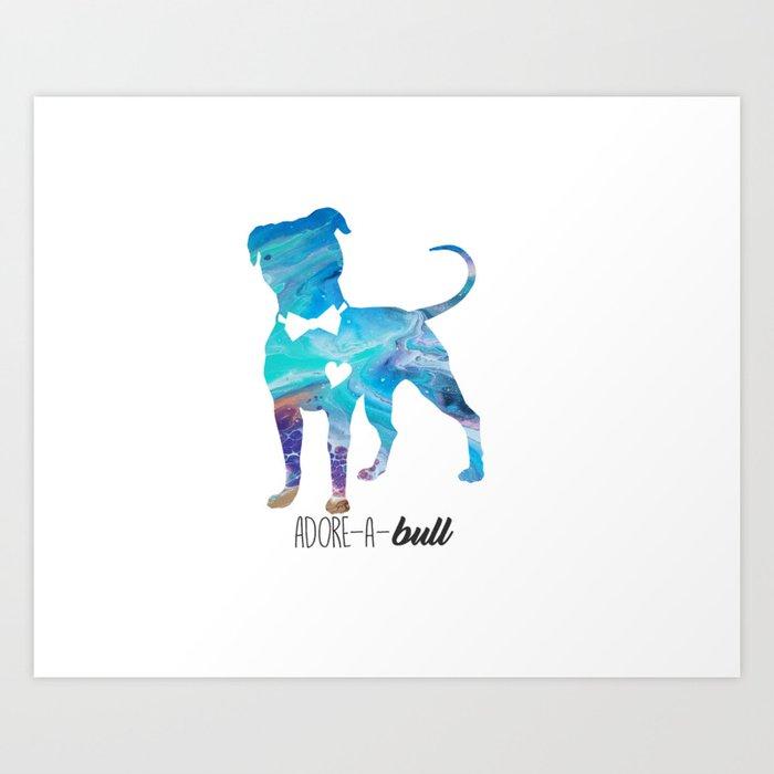 Adorabull pitbull Kunstdrucke