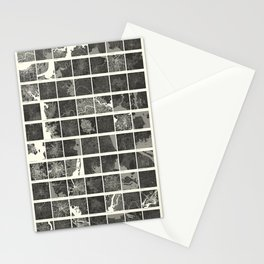 World Cities Maps Stationery Cards
