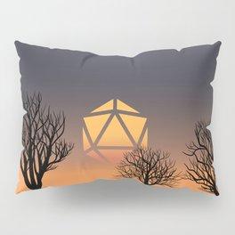 Dead Trees Sunset D20 Dice Sun Tabletop RPG Landscapes Pillow Sham