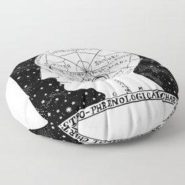 Astro Phrenological Chart Floor Pillow