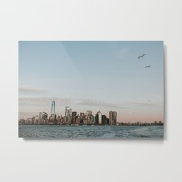 Skyline Upper Bay | Colourful Travel Photography | New York City, America (USA) Metal Print