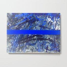 Blue Line of Sorrow Metal Print