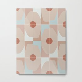Mixed Octagon Tiles Metal Print