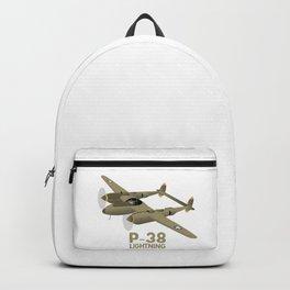 WW2 P-38 Lightning Airplane Backpack