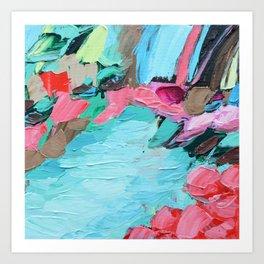 Tahitian Falls Art Print