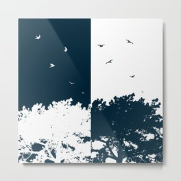 BIRDS AND THE TREES Metal Print