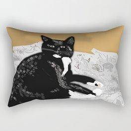 Whats That Its A Cat! Rectangular Pillow