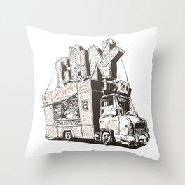 Shopping Truck Throw Pillow