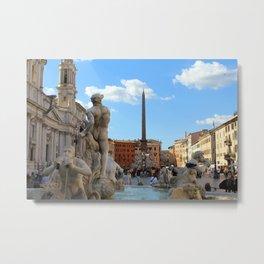 Fontana del Nettuno 2 Metal Print