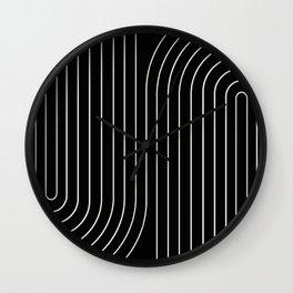Minimal Line Curvature II Wall Clock
