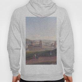 View Of Salzburg 1831 by Rudolf von Alt | Reproduction Hoody