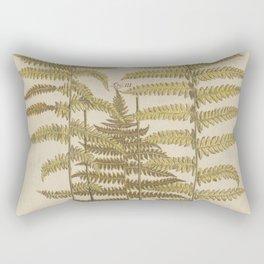 Vintage Fern Botanical Rectangular Pillow