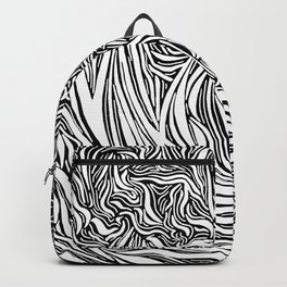 Wave Line Drawing Backpack