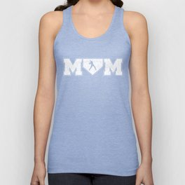 Baseball Mom , Softball Mom Proud Cheering Mom Supporter Squad , Field Life Homerun, Sports Player Unisex Tank Top