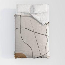 Line Art Abstract,  Comforters
